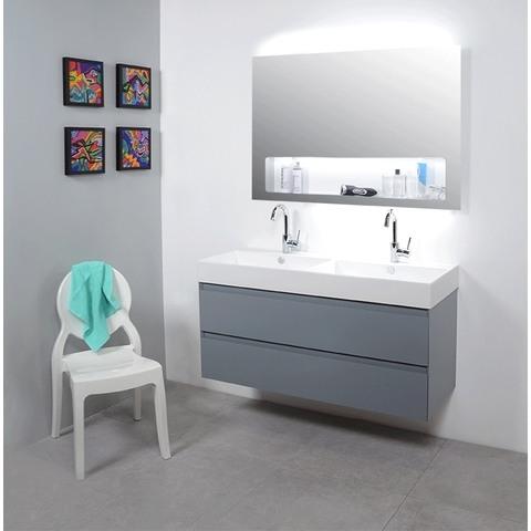 Ink spiegel SP8 60 x 80 cm met geïntegreerd planchet en indirecte LED verlichting boven/onder/binnen