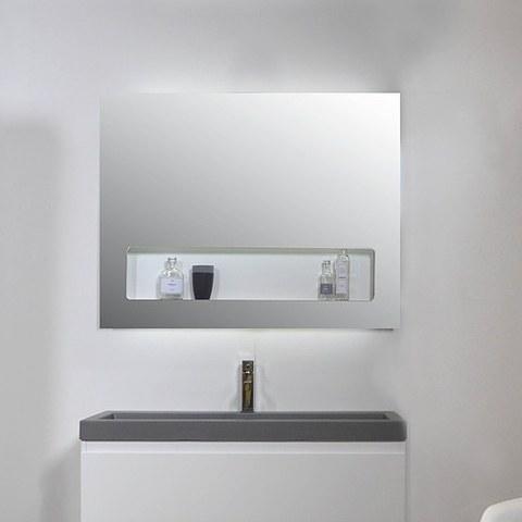 Ink spiegel SP8 100 x 80 cm met geïntegreerd planchet en indirecte LED verlichting boven/onder/binnen