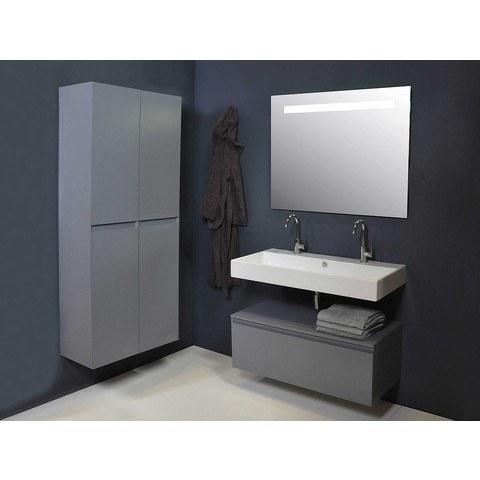 Ink spiegel SP2 100 x 80 cm met horizontale LED verlichting en sensorschakelaar