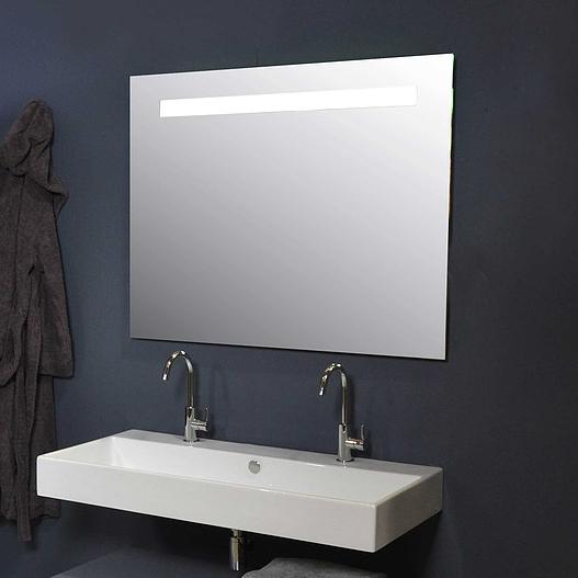 Ink spiegel SP2 120 x 80 cm met horizontale LED verlichting en sensorschakelaar