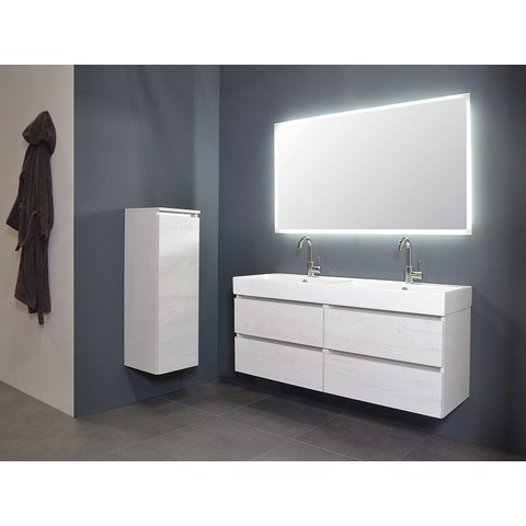 Ink spiegel SP7 70 x 80 cm met rondom indirecte LED verlichting, gematteerde rand en sensorschakelaar