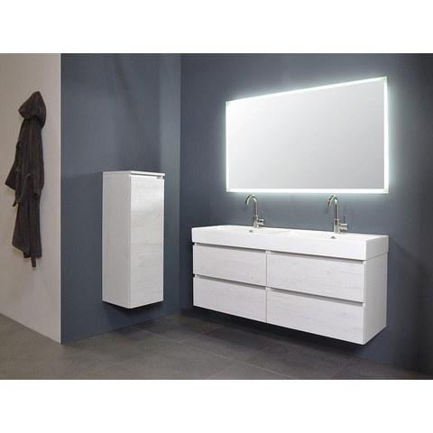 Ink spiegel SP7 90 x 80 cm met rondom indirecte LED verlichting, gematteerde rand en sensorschakelaar