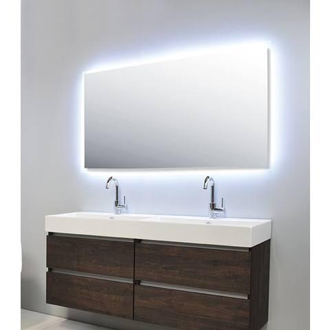 Ink spiegel SP7 100 x 80 cm met rondom indirecte LED verlichting, gematteerde rand en sensorschakelaar