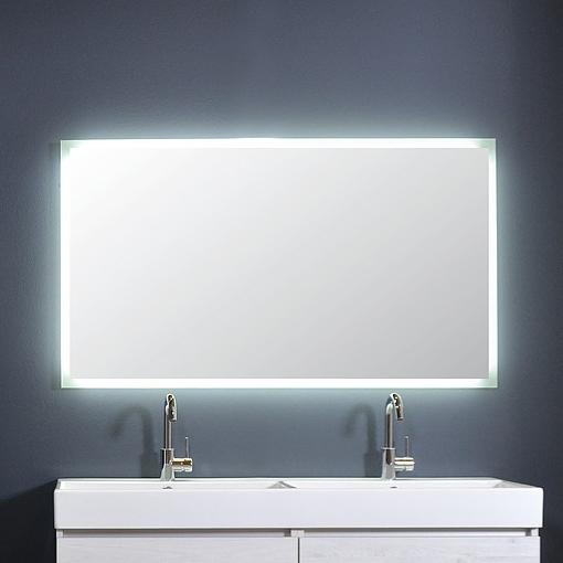 Ink spiegel SP7 120 x 80 cm met rondom indirecte LED verlichting, gematteerde rand en sensorschakelaar