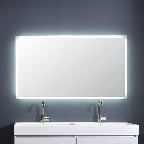Ink spiegel SP7 140 x 80 cm met rondom indirecte LED verlichting, gematteerde rand en sensorschakelaar