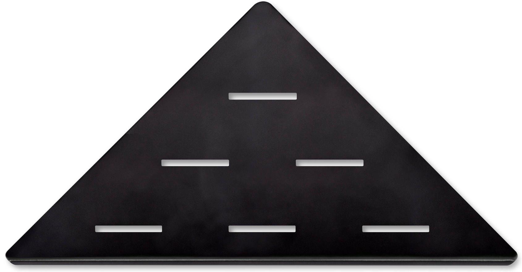 Looox Corner shelf hoekplanchet 30 x 22 cm mat zwart