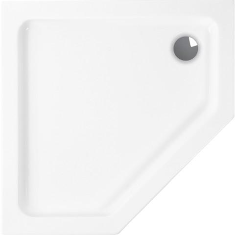 Wisa Malaga douchebak vijfhoekig 90 x 90 x 3.5 cm. wit
