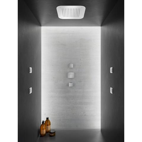 Hotbath Bro! 007 inbouw thermostaat met 2 stopkranen geborsteld nikkel