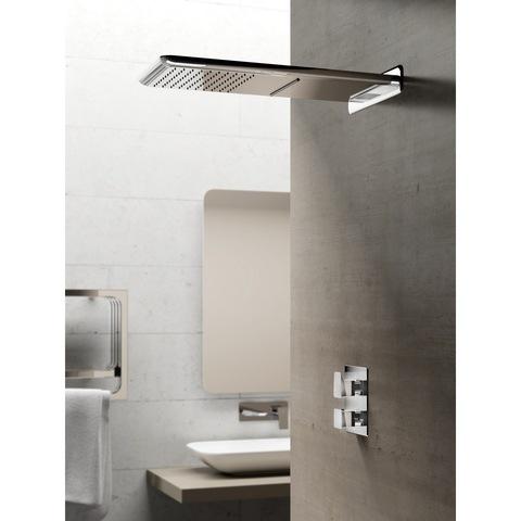 Hotbath Bro! 009 inbouw thermostaat met 2-weg stop-omstel chroom