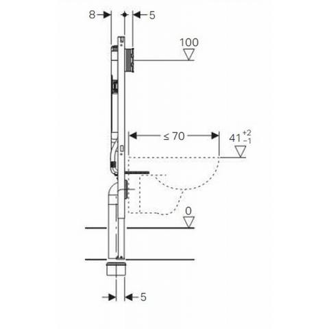 Geberit Duofix Sigma ruimtewinnend inbouwreservoir