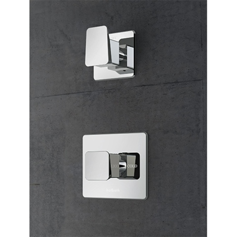 Hotbath Bro! 012 inbouw thermostaat met 1 stopkraan chroom