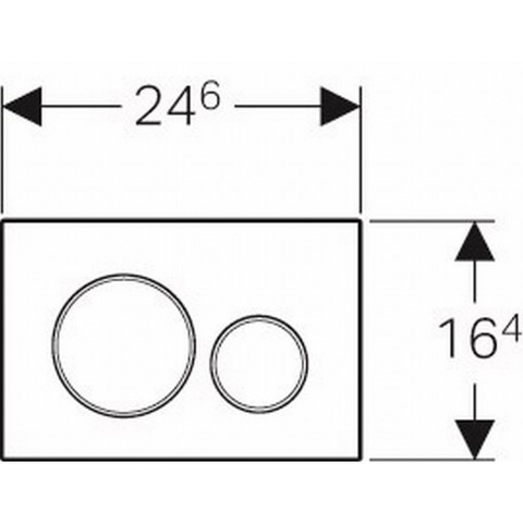Geberit Sigma 20 bedieningsplaat plaat-ring-knop : wit-glans chroom-wit