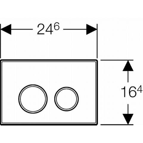 Geberit Sigma20 bedieningsplaat kleuren:plaat-ring-knop wit-goud-wit
