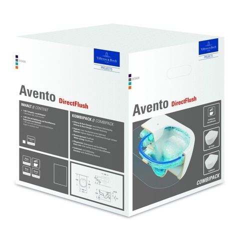 Villeroy & Boch Avento wandcloset DirectFlush met SlimSeat zitting SC + QR