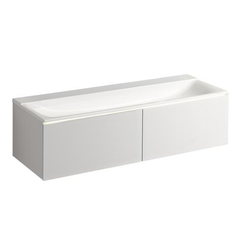 Sphinx 420 wastafelonderkast voor varicor 140cm -  2 lades - mat wit