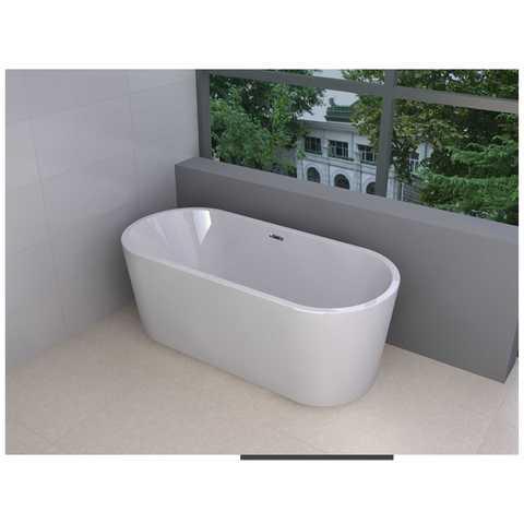 Wiesbaden Libero vrijstaand bad 178x80cm ovaal wit