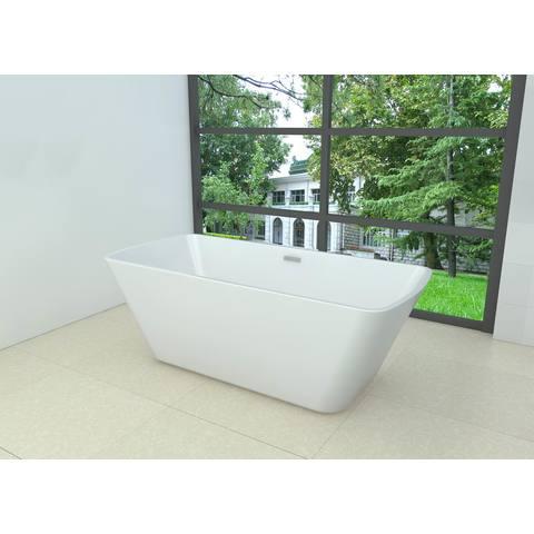 Wiesbaden Larx vrijstaand bad 170x78cm rechthoekig wit