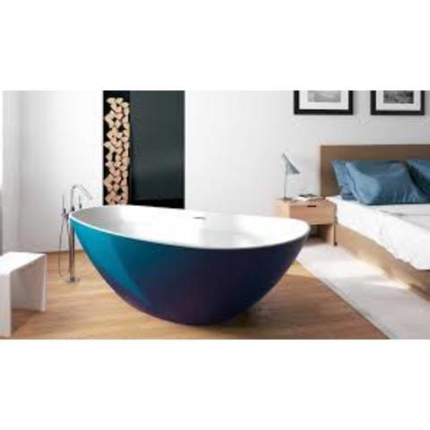 Riho Granada vrijstaand bad 170x80cm Solid Surface uitvoering links