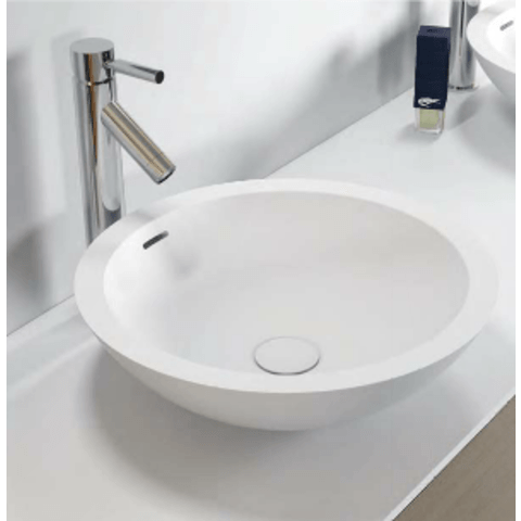 Riho Avella opzetwastafel Solid Surface rond 42cm