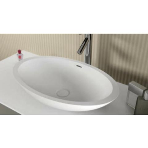 Riho Avella opzetwastafel Solid Surface ovaal 58x36cm