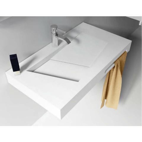 Riho Lorient wastafel 90cm Solid Surface met kraangat