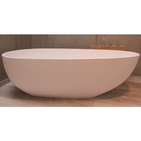Luca Vasca vrijstaand bad 183x85cm ei-vormig Solid Surface mat wit
