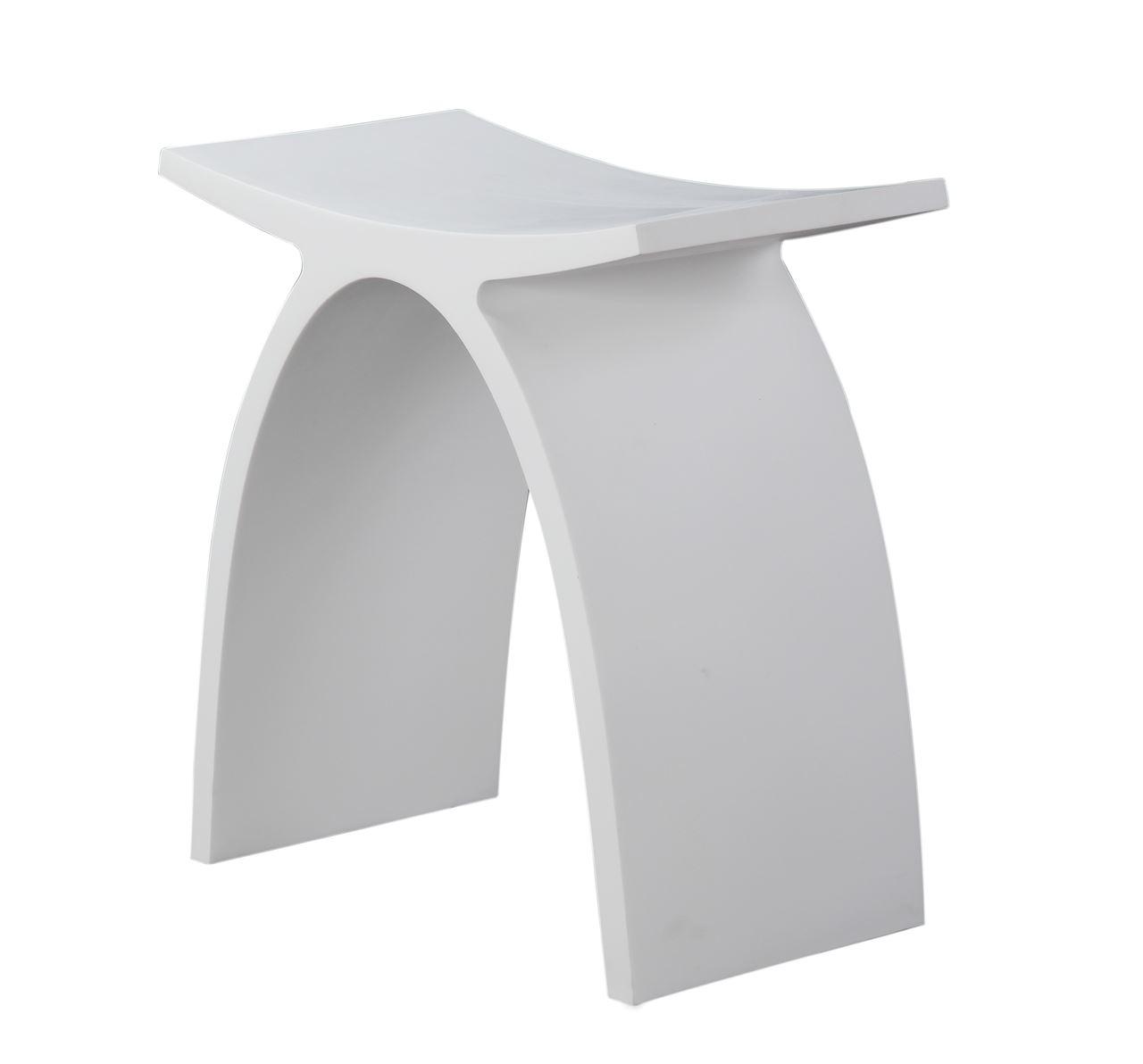 Luca Sanitair Vasca krukje 42x23x43h van solid surface mat wit