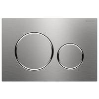 Geberit Sigma 20 bedieningsplaat kleuren: plaat-ring-knop: geborsteld RVS-look - gepolijst RVS-look - geborsteld RVS-look