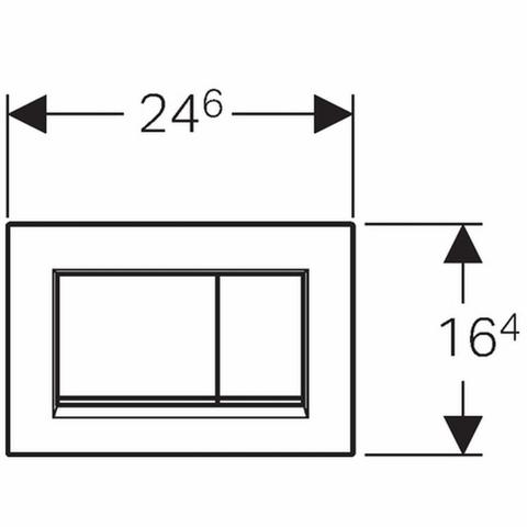 Geberit Sigma 30 bedieningsplaat kleuren: plaat - strip - knop chroom-matchroom-chroom