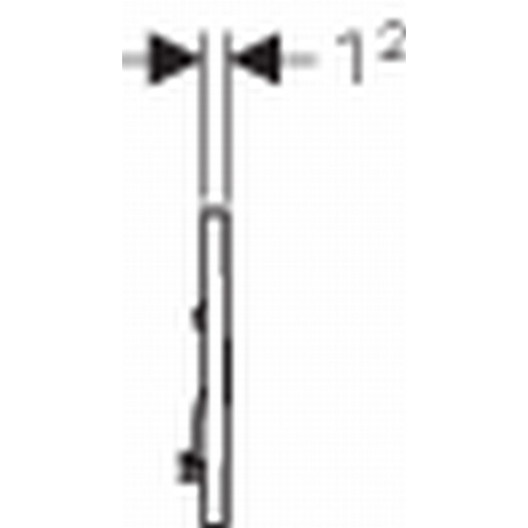 Geberit Sigma 30 bedieningsplaat kleuren: plaat - strip - knop wit-chroom-wit