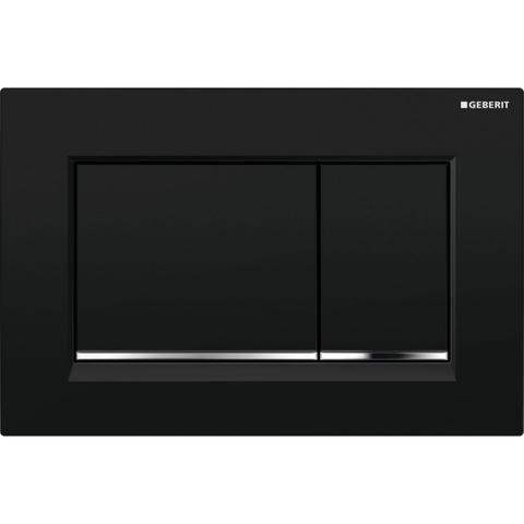 Geberit Sigma 30 bedieningsplaat kleuren: plaat - strip - knop zwart-chroom-zwart
