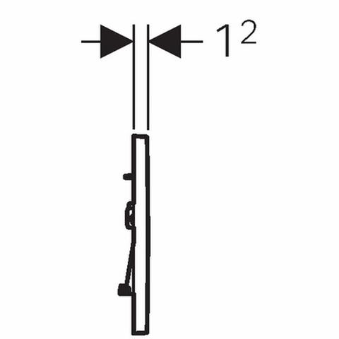 Geberit Sigma 30 bedieningsplaat kleuren: plaat - strip - knop matchroom-chroom-matchr.