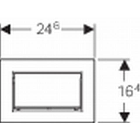 Geberit Sigma 30 bedieningsplaat kleuren: plaat - strip - knop geb.chr-chroom-geb.chr.