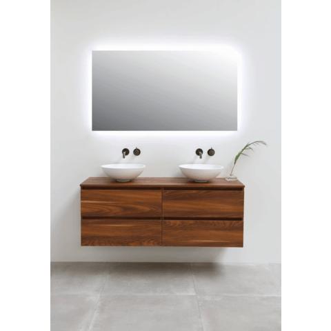 Ink spiegel SP5 90 x 80 cm met rondom indirecte LED verlichting en sensorschakelaar