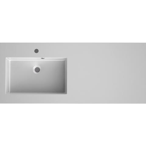 Bruynzeel Matera meubelwastafel 120x50 cm.kom links met kraangat mat wit