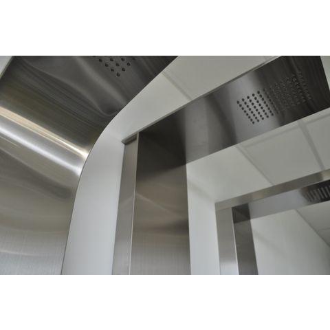 Wiesbaden Ontario douchepaneel 150x22cm RVS