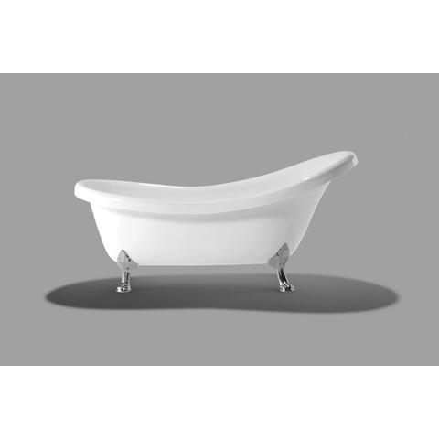 Xenz Victoria vrijstaand bad op poten 175x83cm glans wit