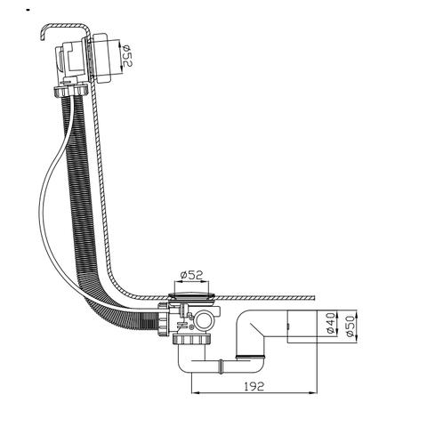 Xenz badafvoer- /overloopcombinatie BB121 chroom