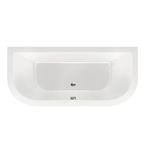 Xenz Principe Basic bad 180x80cm met 2 ronde hoeken wit