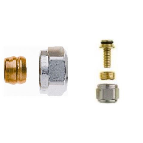 Heimeier design aansluitkoppelingset 15/16x2 mm (2x2 stuks)