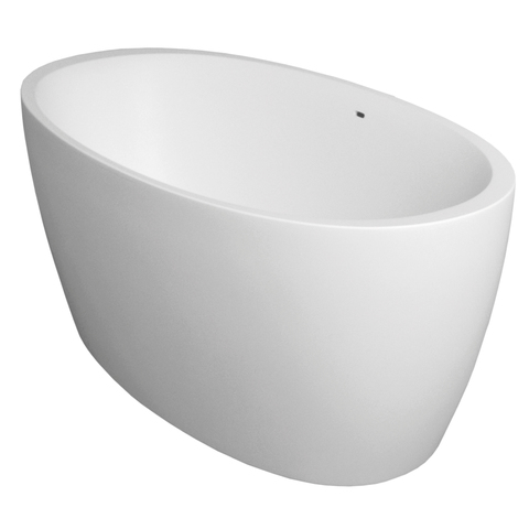 Xenz Sio vrijstaand bad 180x90cm wit Solid Surface