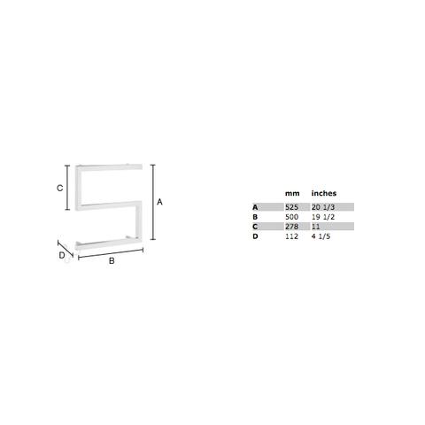 Smedbo Dry handdoekradiator S-model 50 x 52,5 cm - 50 Watt - RVS