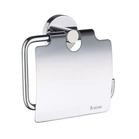 Smedbo Home toiletrolhouder met klep chroom