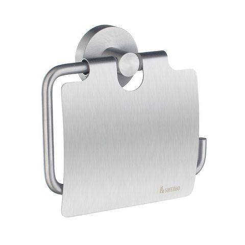 Smedbo Home toiletrolhouder met klep mat-chroom