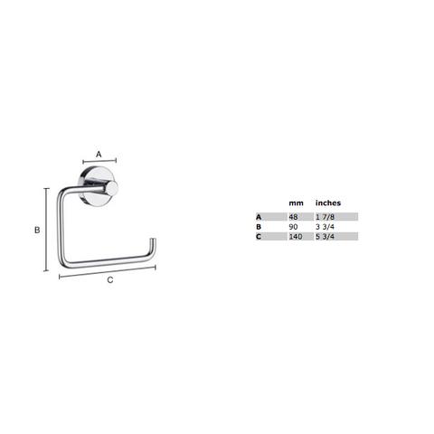 Smedbo Home toiletrolhouder zonder klep mat-chroom