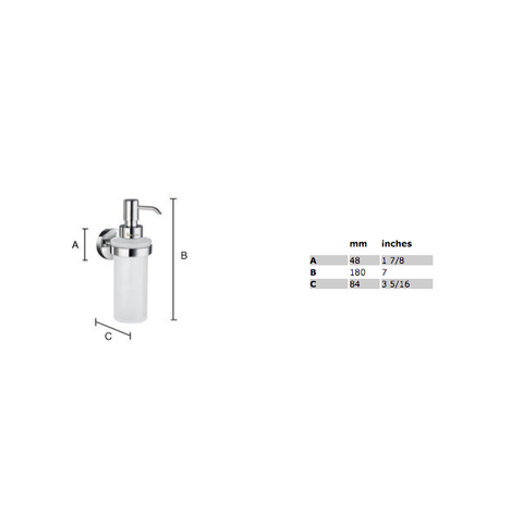 Smedbo Home zeepdispenser matglas chroom