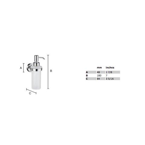 Smedbo Home zeepdispenser matglas mat-chroom
