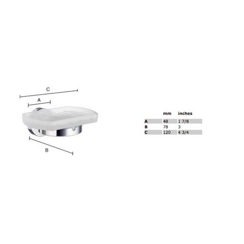 Smedbo Home zeephouder chroom