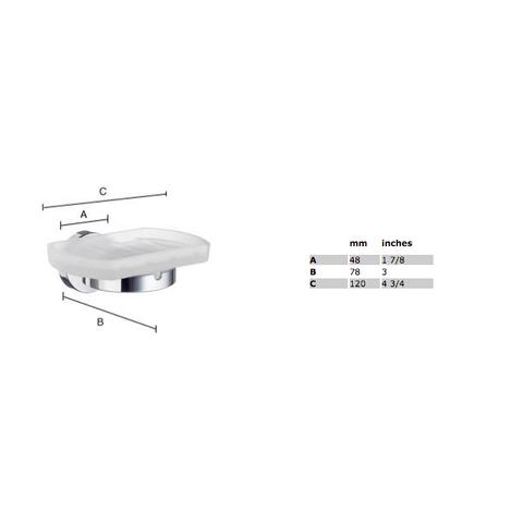 Smedbo Home zeephouder mat-chroom