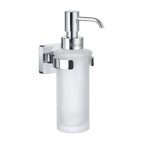 Smedbo Ice zeepdispenser chroom met matglas glas